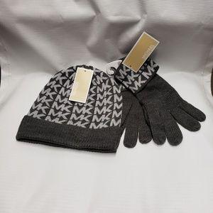 Michael Michael Kors Beanie Hat & Gloves Set
